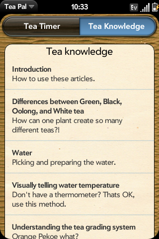Tea Knowledge Section