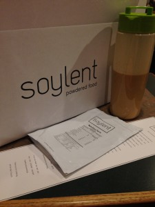 This is the first batch of soylent I mixed up! Notice the nice bottle I got from them.