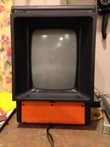 Sorry for the blurry picture... You can see it mounts up just like the original. Also note the Vectrex logo text on it.