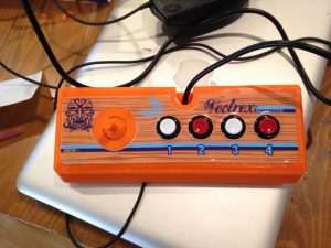 Finished controller with a sticker overlay. It fits!