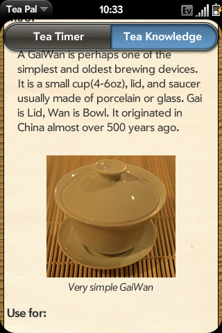 Example of a Tea knowledge Article