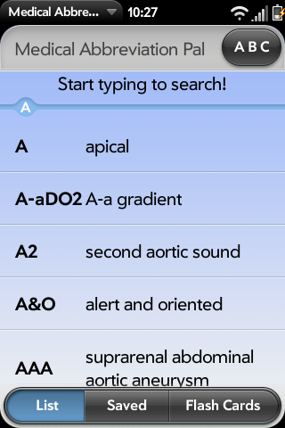 Medical Abbreviation Pal (MAP) for WebOS | Coolate com
